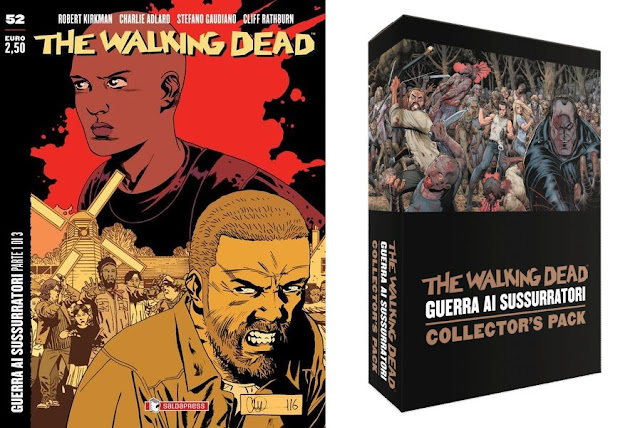 "The Walking Dead #52 ""Guerra ai Sussurratori (parte 1 di 3)"" + Collector's Pack"
