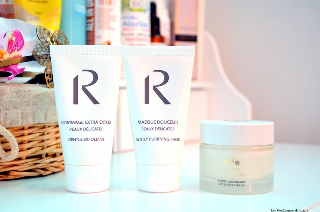 gommage bio - masque de de beauté bio - soin délicat - peaux délicates - peaux sensibles - soins pour tous les types de peaux - peau douce - peau souple - peau éclatante - Rosalia - Roger et Gallet