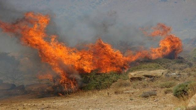 Η Αργολίδα σε υψηλό κίνδυνο πυρκαγιάς το Σάββατο 29 Αυγούστου
