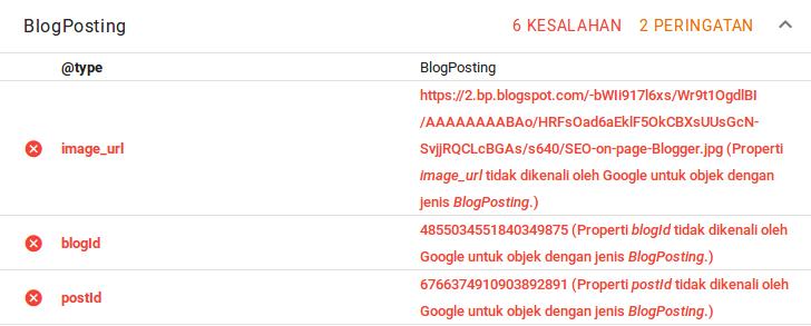 Kesalahan Data Terstruktur: image_url, blogId dan postId