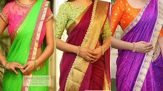 Designer Sarees With Attractive Borders Attached Designs