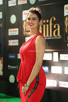 Meenakshi Dixit in Red One Shoulder Red Zipped up gown at IIFA Utsavam Awards018.JPG