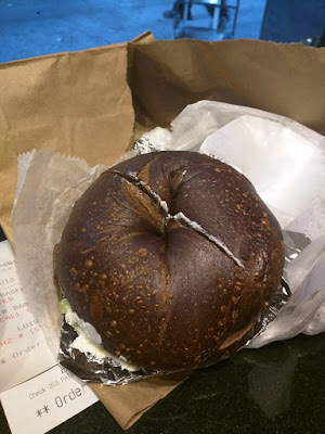 High Line coffee recommendation: Pumpernickel Bagel from Best Bagel and Coffee in New York City