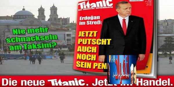 مجلة تيتانيك الالمانية تسخر من اردوغان بطريقة وقحة