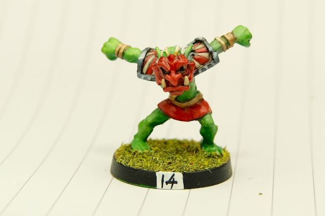Goblin with cool rising sun shoulder pads