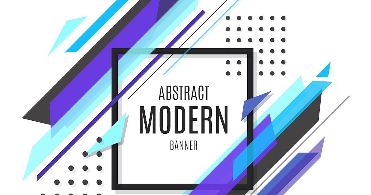 Banner Modern Berwarna Biru Format CDR dan EPS | Free ...