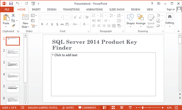 open Word 2013 document in PowerPoint