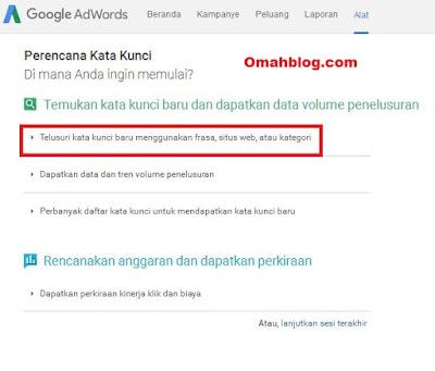 Cara Melakukan Riset Keyword Dengan Google Keyword Planner
