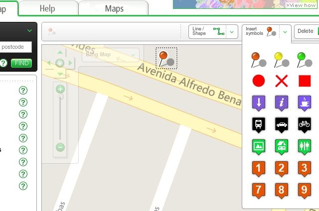 Sketchmap para crear mapas e indicar lugar