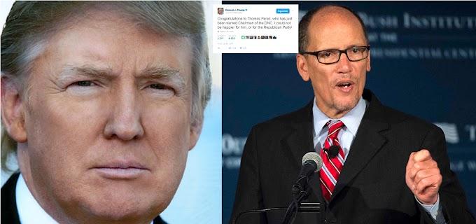 Trump felicita cínicamente  a Tom Pérez por su elección como presidente nacional del Partido Demócrata