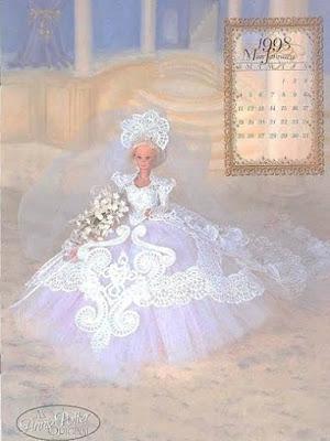 PAP em Português do Vestido de crochê de luxo para Barbie