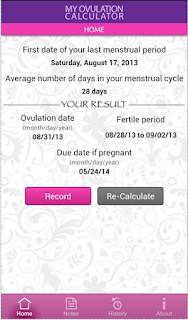 Download My Ovulation Calculator App