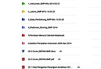 Download Perangkat Akreditasi Sekolah SMP-MTs