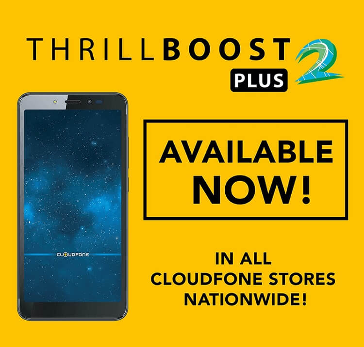 Cloudfone Outs Thrill Boost 2 Plus