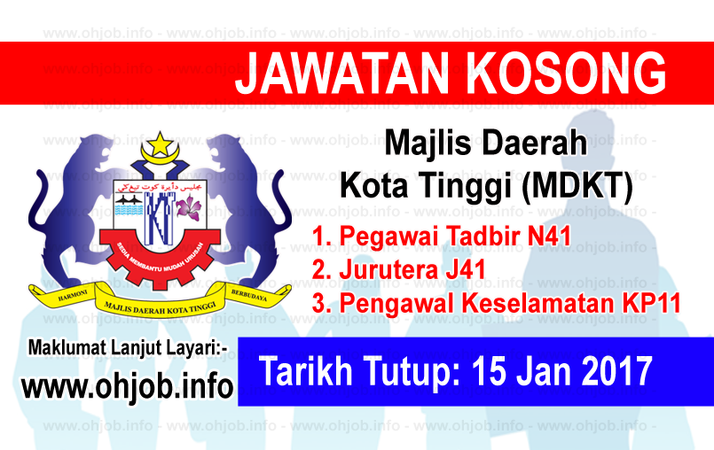 Jawatan Kerja Kosong Majlis Daerah Kota Tinggi (MDKT) logo www.ohjob.info januari 2017