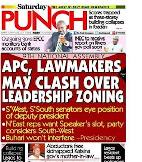 The punch Newspaper Headlines Of The Day