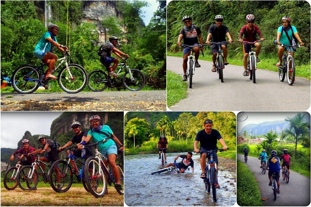 Sepedahan di Lembah Harau Padang