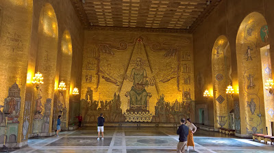 The Golden Hall in Stockholm City Hall.