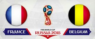 مباراة فرنسا وبلجيكا في نصف نهائي