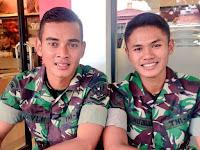 Ravi Murdianto Eks Kiper Timnas U-19  Tampak Gagah Dengan Seragam TNI