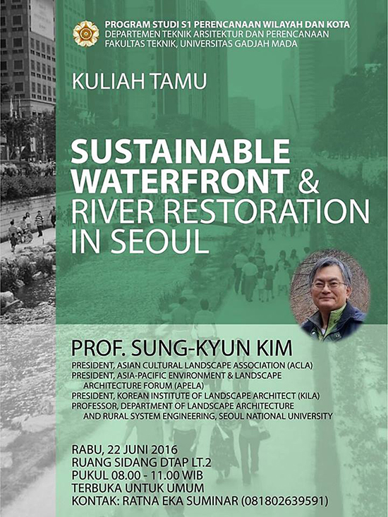 SUSTAINABLE WATERFRONT AND RIVER RESTORATION IN SEOUL