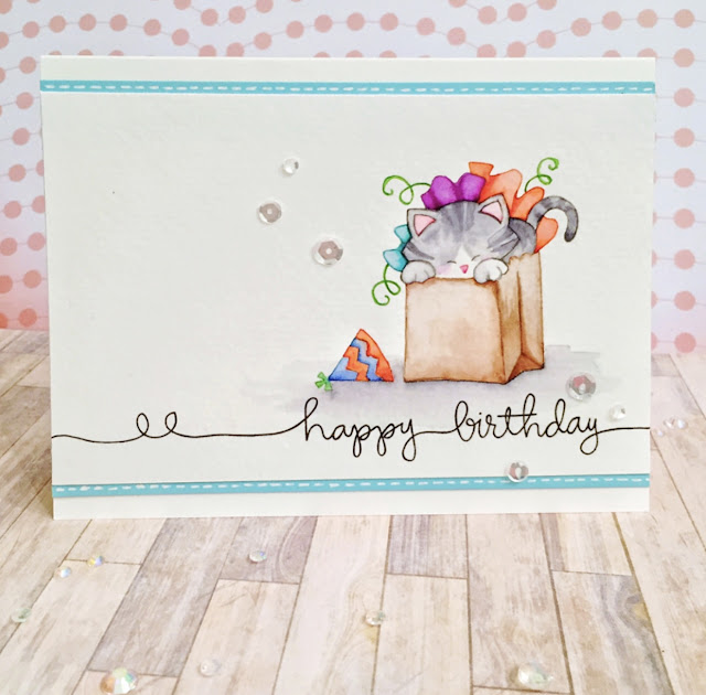 Fan Feature Week - Day 4 | Card featuring Newton's Birthday Bash Stamp Set by Newton's Nook Designs #newtonsnook #handmade
