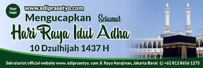 Free Download Banner Ucapan Selamat Hari Raya Idul Adha 2016