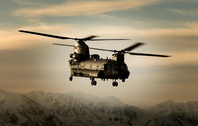 royal air force chinook hc mk2 sunset