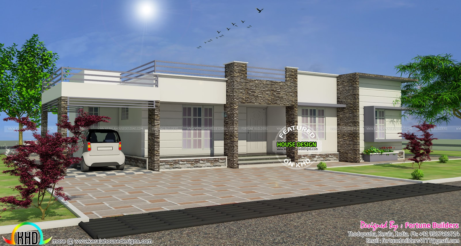 20 Lakhs House In 1400 Sq Ft Kerala Home Design And