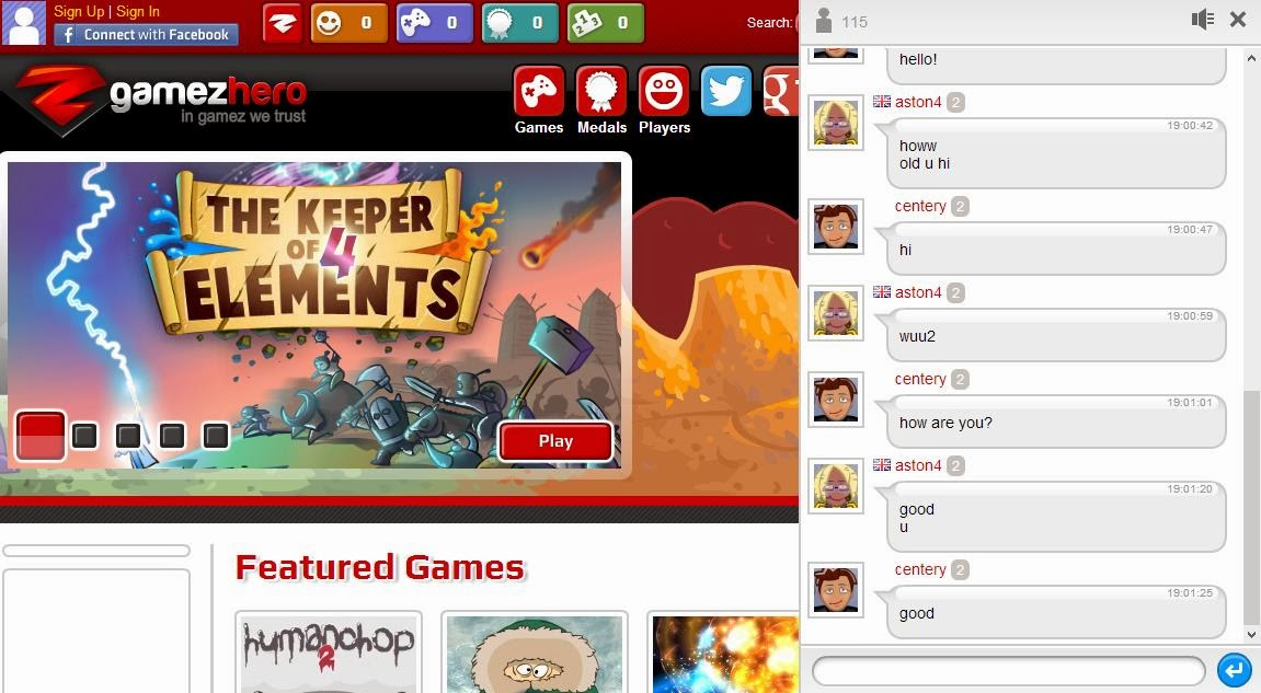 giochi preliminari chat gratis online