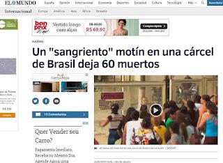60 Mortos em presídio de Manaus; repercute na imprensa internacional