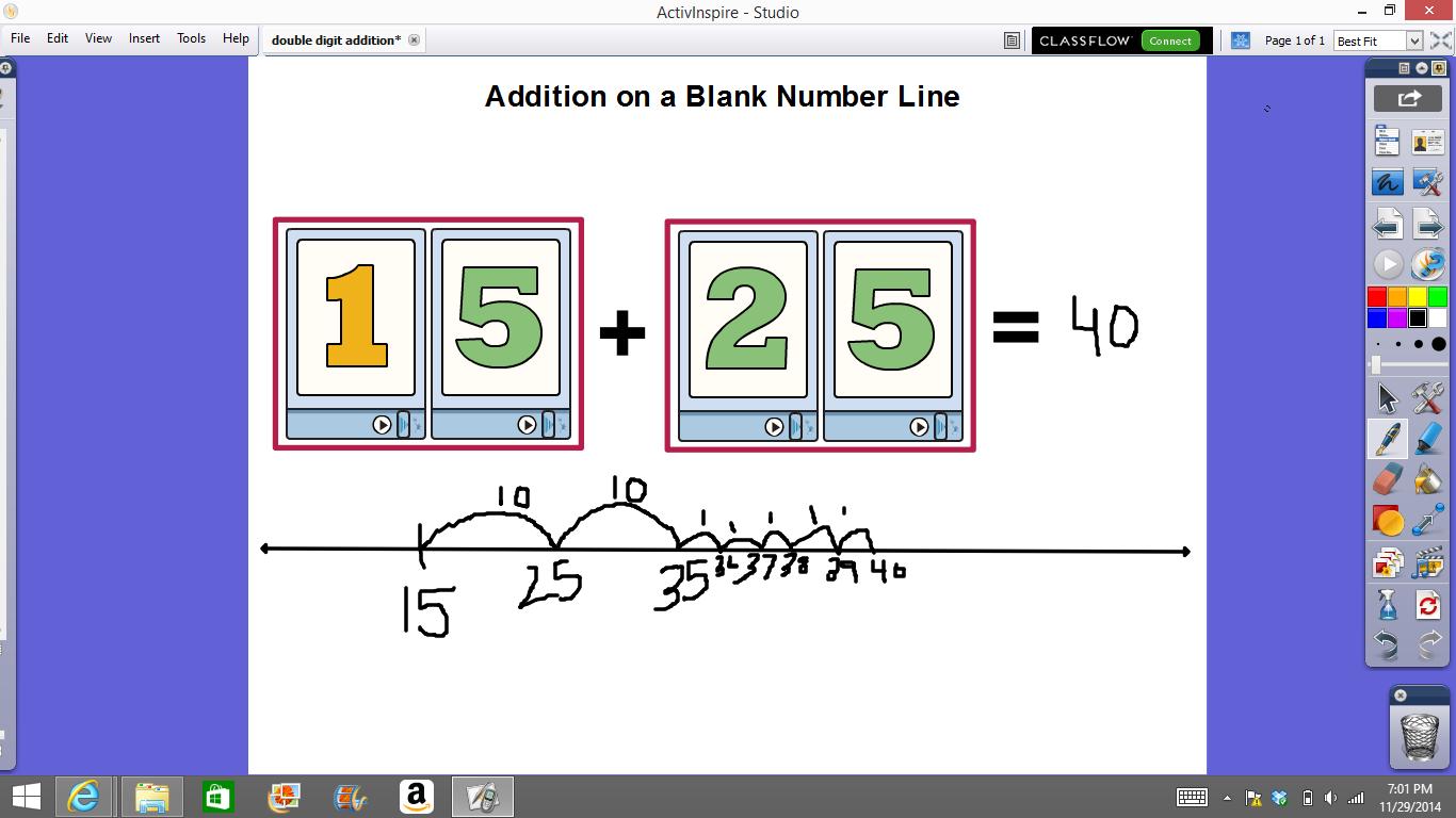 Mrs T S First Grade Class Number Line Flipcharts