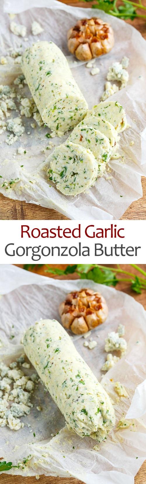 Roasted Garlic Gorgonzola Butter