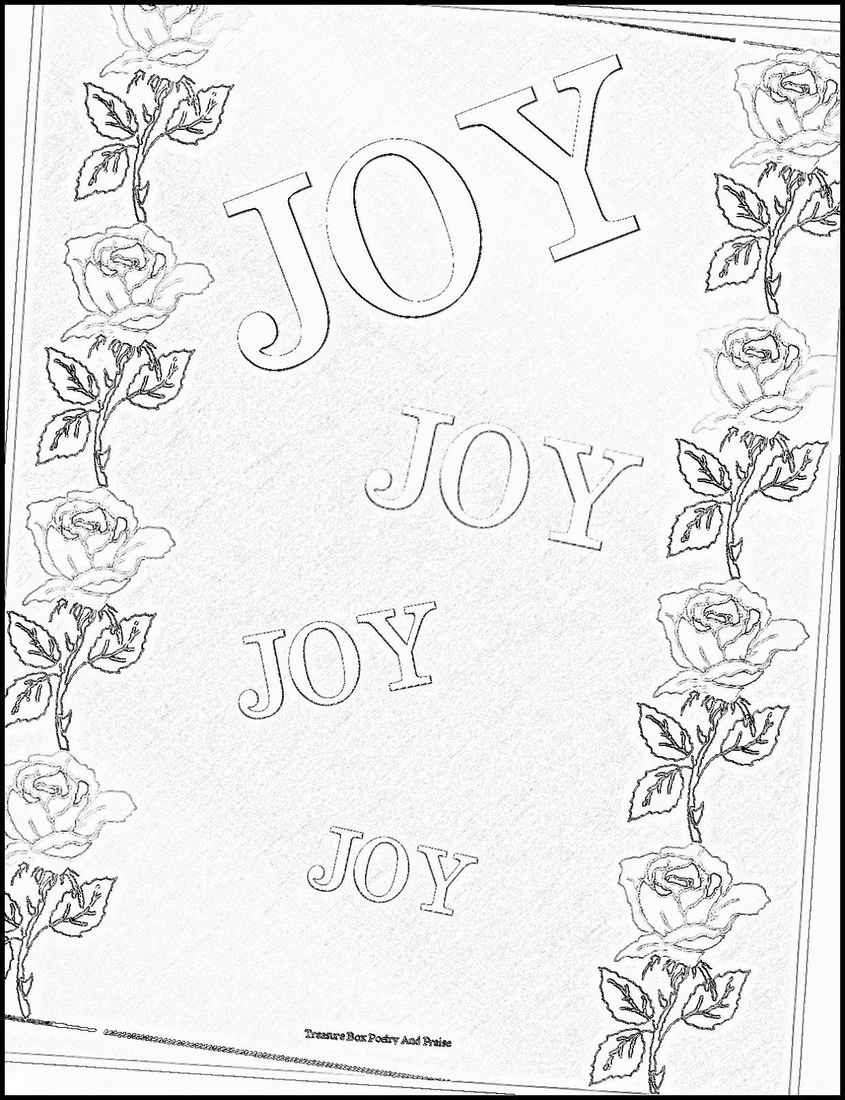It is a graphic of Superb Joy Coloring Page