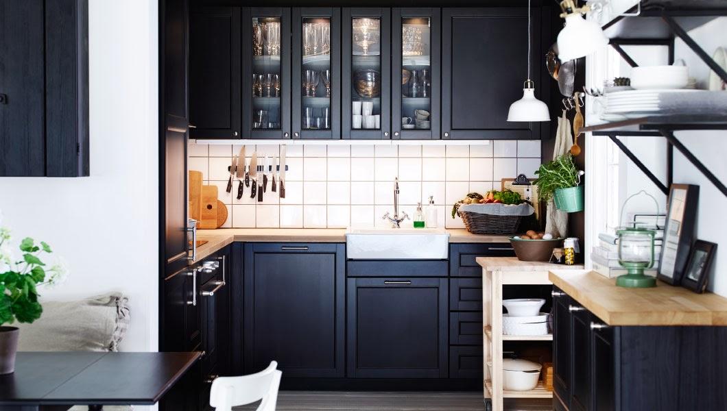 Cat logo de novas cozinhas ikea 2014 decora o e ideias - Repeindre sa cuisine en noir ...