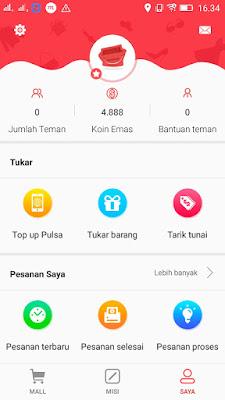 Cara mendapatkan pulsa dari Aplikasi Shopmap