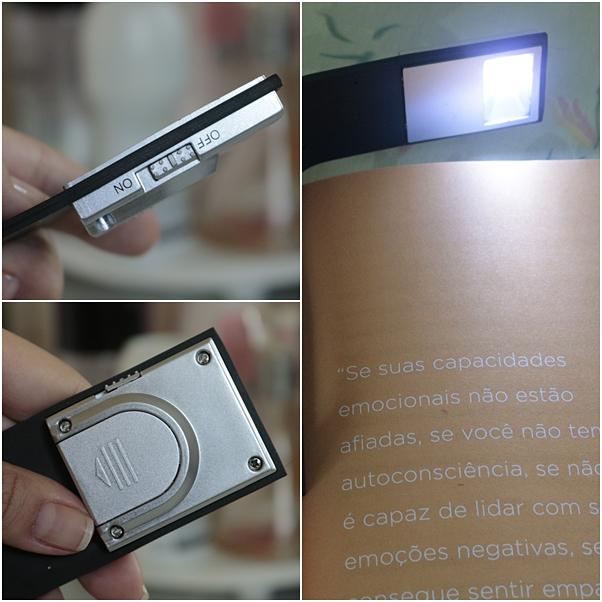 Luz de LED flexivel para leitura de livros recebidos banggood