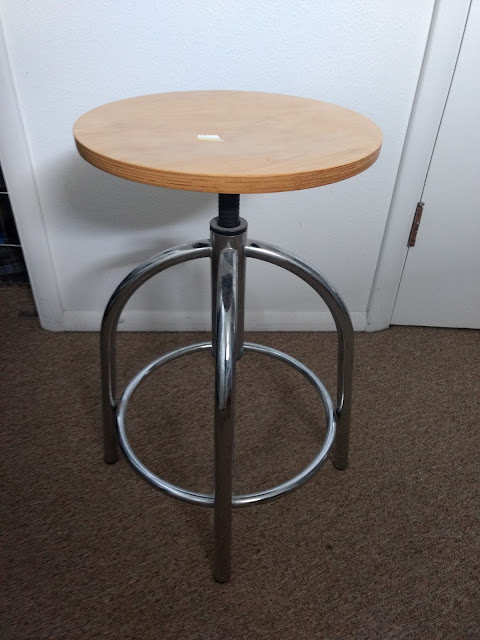 Thrift Store Swivel Stool Makeover Before picture