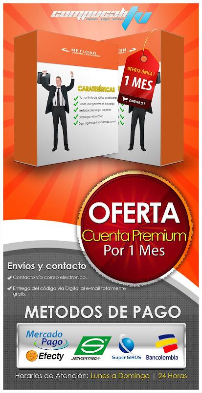 Venta de Cuentas Premium Netload 1 Mes 3 Meses
