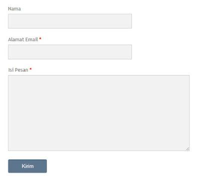 Cara Membuat Halaman Formulir Kontak di Blogger