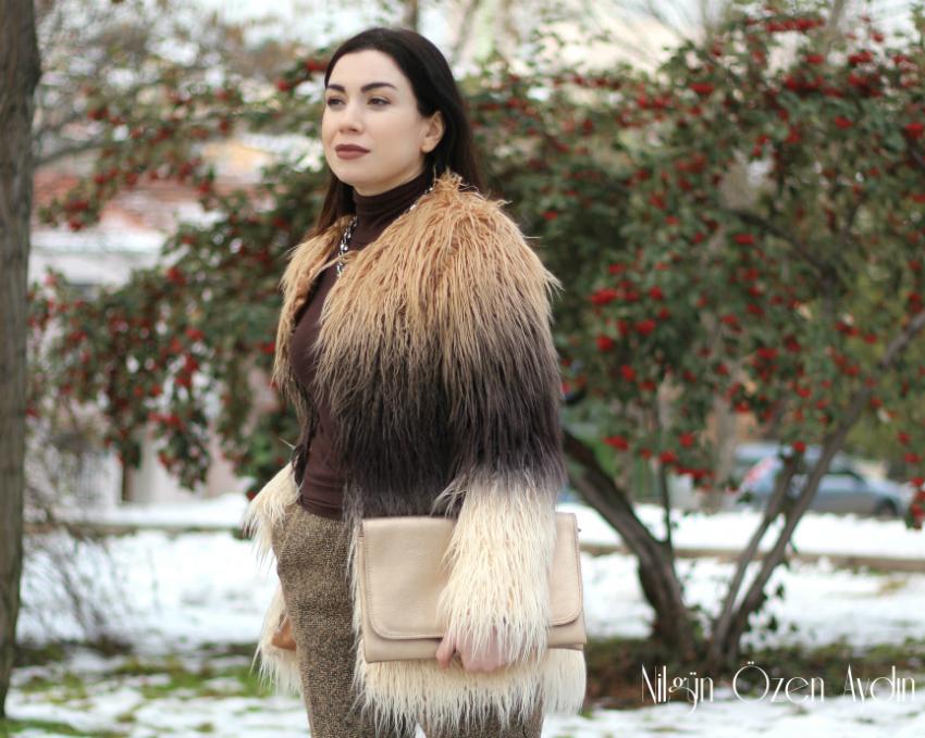 fashion blogger-Yapay Kürk Modası