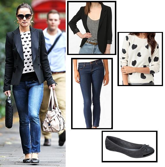 celebrity street style, celebrity style, fashion, flats, forever 21, Pippa Middleton, street style, style, super style steals, sweater, target, urban outfitters, royal wedding, kate middleton, middleton sisters, get the look, look for less, budget fashion