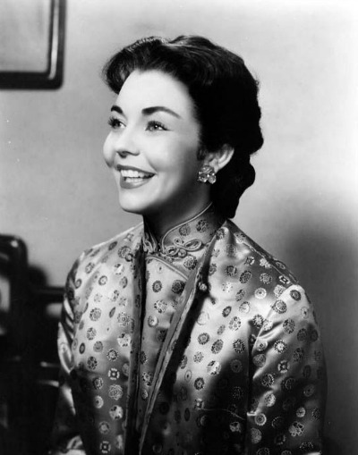 Jennifer Jones in 1955 Award Winning Costume for Love Is a Many Splendored Thing Designed by Charles LeMaire