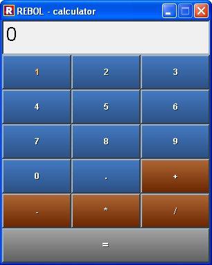 Rebol: Calculator