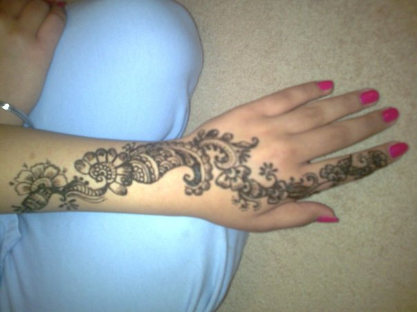 Lower Arm Henna Tattoo: Best Of Tattoos: Clipart Illustration Of Four Bold Black