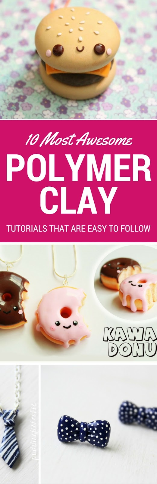 10 Polymer Clay Tutorials Step By Step Anyone Can Follow - Polymer Clay, Polymer Clay Charms, Polymer Clay Charm Tutorials, DIY Crafts, DIY Ideas, Polymer Clay Ideas