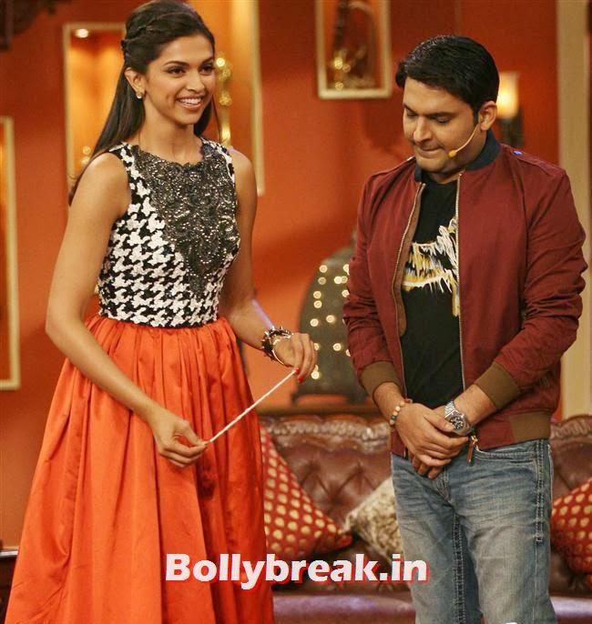 Deepika Padukone and Kapil Sharma, Comedy Nights with Kapil & Ram Leela Team