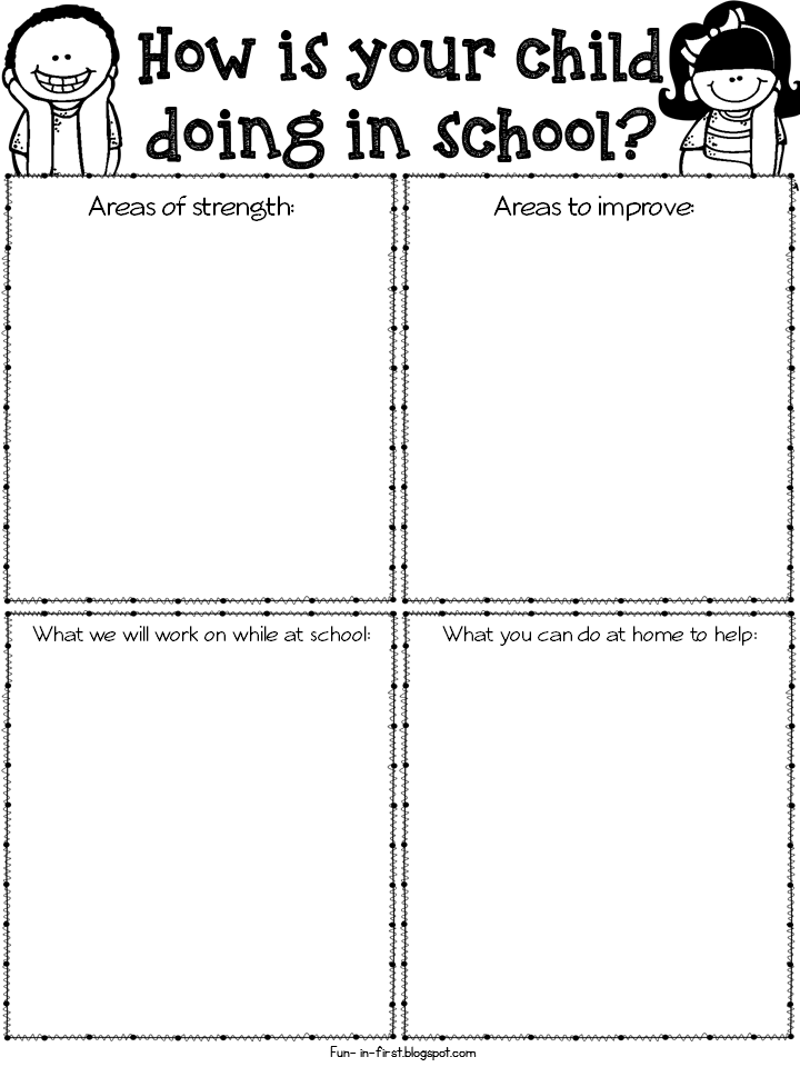 Freebielicious parent teacher conference forms for Parent teacher meeting report template