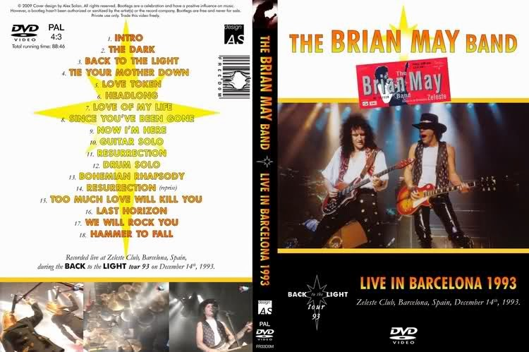 The Brian May Band - Zeleste Club, Barcelona (1993)