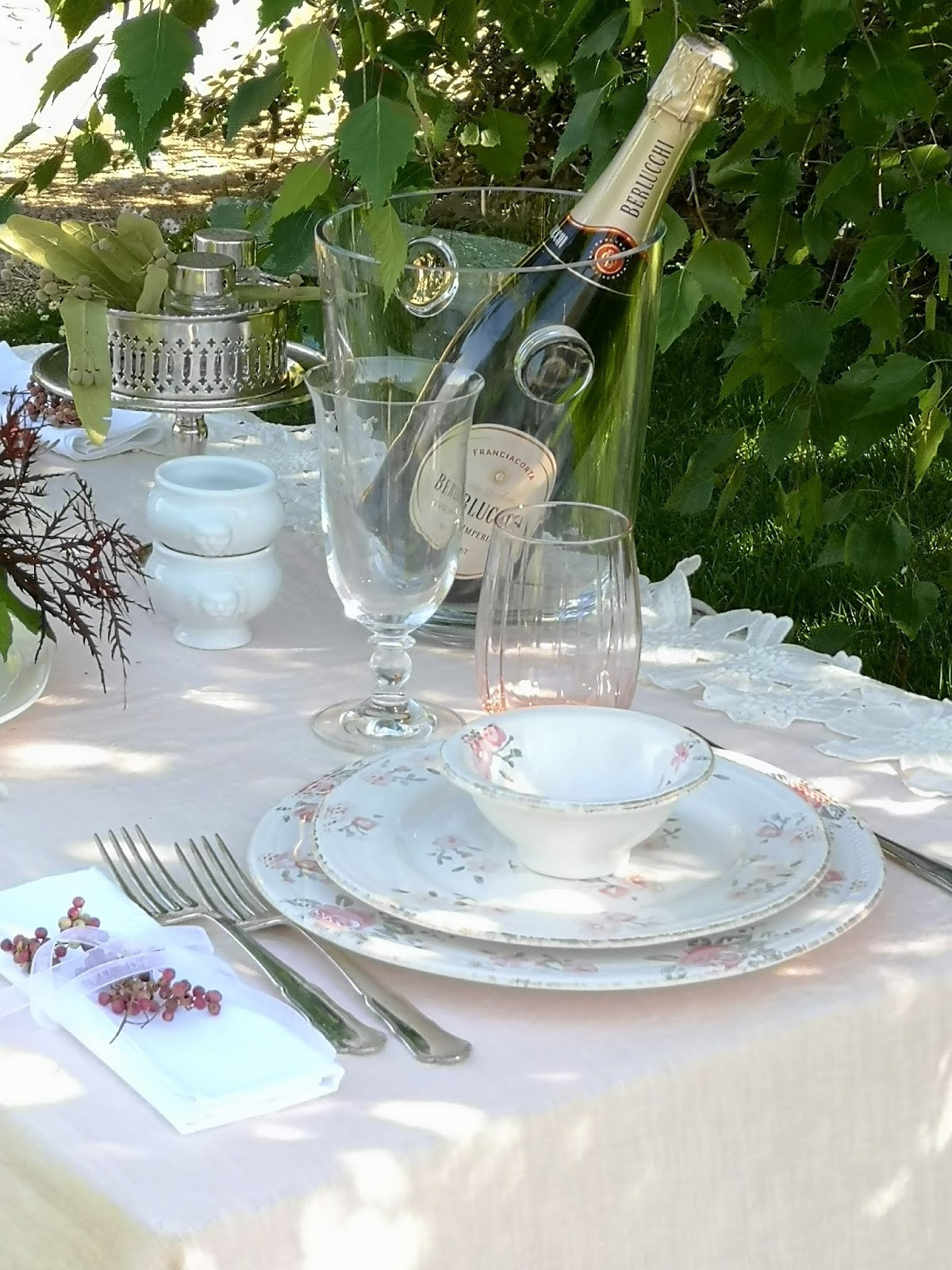 tavola romantica per due